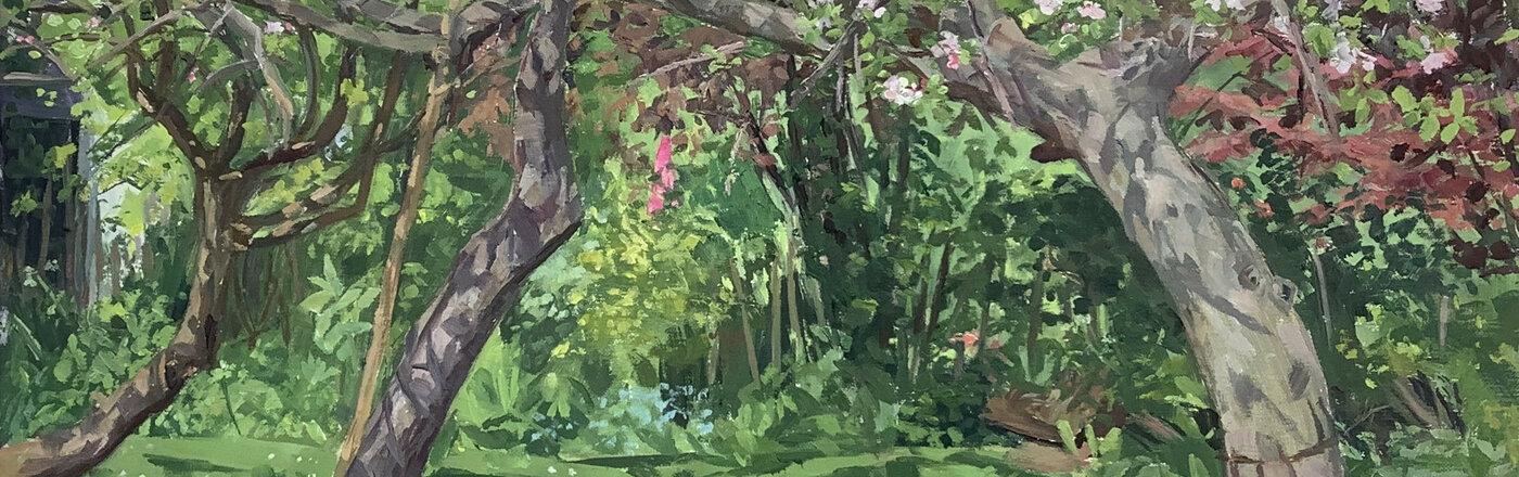 Apple Trees painting Chris Williams